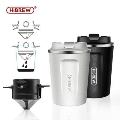 HiBREW  Portable Hanging Ear Style Coffee Thermal mug Foldable filter Stainless steel double wall 1